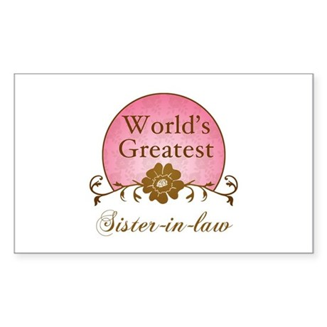 Stylish World's Greatest Sister-In-Law Sticker (Re