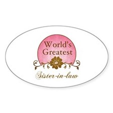 Stylish World's Greatest Sister-In-Law Decal