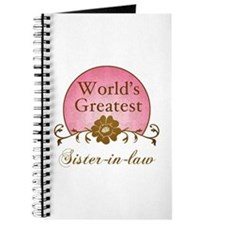 Stylish World's Greatest Sister-In-Law Journal