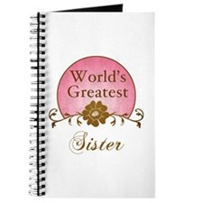 Stylish World's Greatest Sister Journal