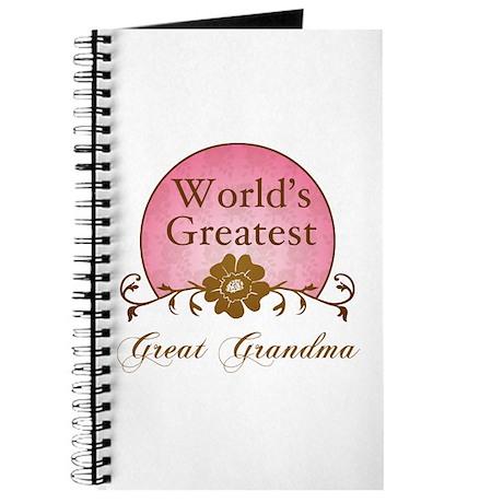 Stylish World's Greatest Great Grandma Journal