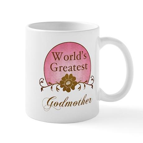 Stylish World's Greatest Godmother Mug