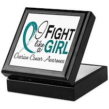 Licensed Fight Like A Girl 10.1 Ovari Keepsake Box