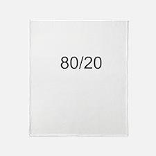 80/20 Rule Throw Blanket