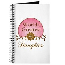 Stylish World's Greatest Daughter Journal