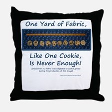 One Yard of Fabric Throw Pillow