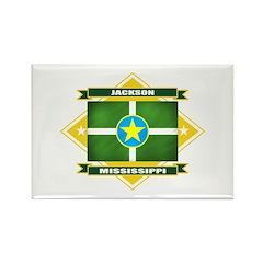 Jackson Flag Rectangle Magnet