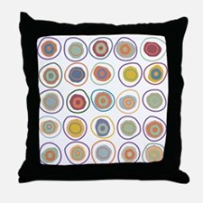 circles in cirlcles Throw Pillow