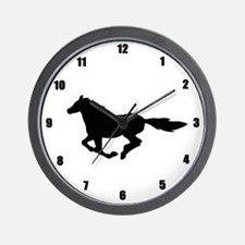 Horse (black) Wall Clock