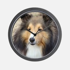 Cute Sheltie Wall Clock