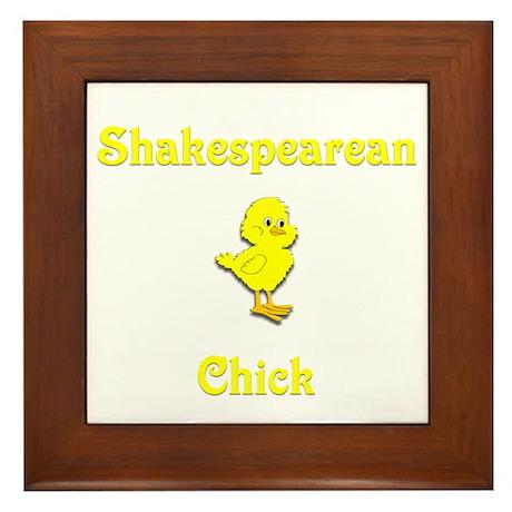 Shakespearean Chick Framed Tile