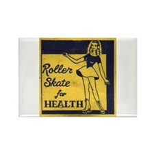 Roller Skate for Health Rectangle Magnet