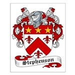 Stephenson Coat of Arms Small Poster