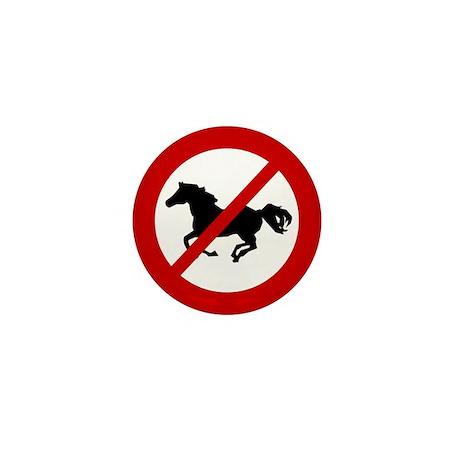 Anti Horses Mini Button (10 pack)