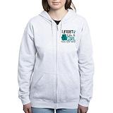 Ovarian cancer Zip Hoodies