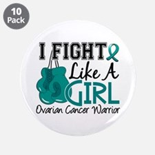 "Licensed Fight Like A Girl 1 3.5"" Button (10 pack)"