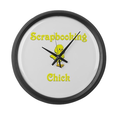 Scrapbooking Chick Large Wall Clock