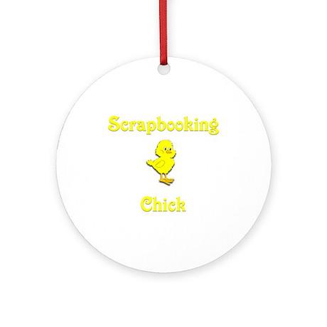 Scrapbooking Chick Ornament (Round)