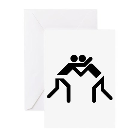 Grapple Silhouette Greeting Cards (Pk of 10)