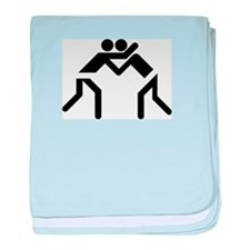 Grapple Silhouette baby blanket