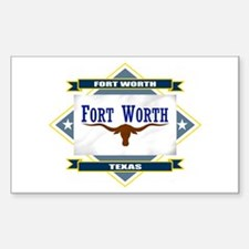 Fort Worth Flag Decal