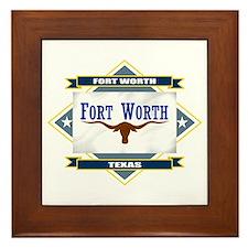 Fort Worth Flag Framed Tile