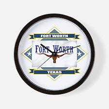 Fort Worth Flag Wall Clock