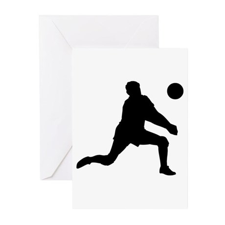 Volleyball Dig Silhouette Greeting Cards (Pk of 10 by ...
