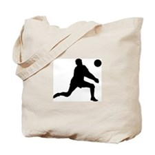 Volleyball Dig Silhouette Tote Bag