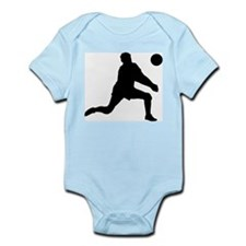 Volleyball Dig Silhouette Infant Bodysuit