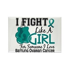 Licensed Fight Like A Girl 15.6 O Rectangle Magnet