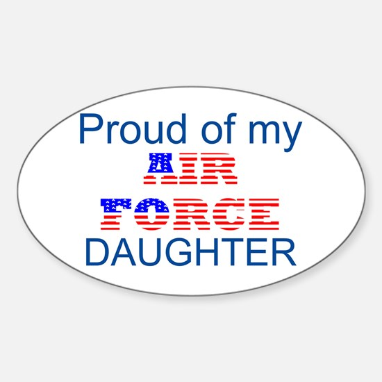 Air Force Daughter Oval Decal