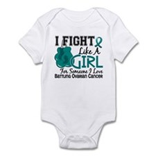 Licensed Fight Like A Girl 15.6 Ov Infant Bodysuit