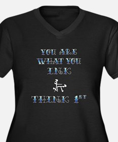 You Are What you Ink - Dark Women's Plus Size V-Ne