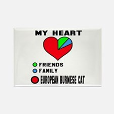 My Heart Friends Family European Rectangle Magnet