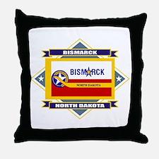 Bismarck Flag Throw Pillow