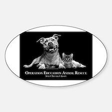 Operation Education Animal Re Sticker (Oval)