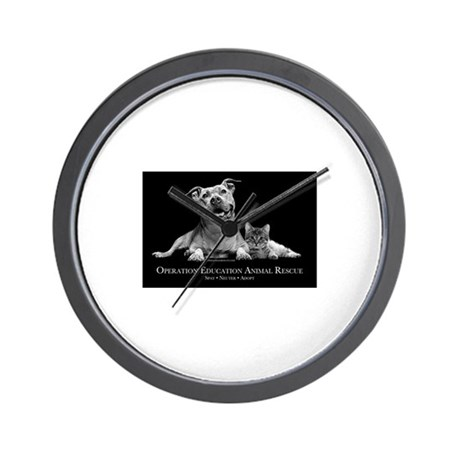 Operation Education Animal Re Wall Clock