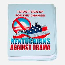 Kentuckians Against Obama baby blanket