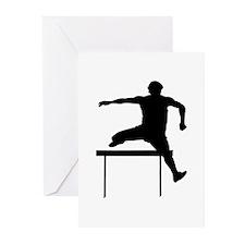 Hurdler Silhouette Greeting Cards (Pk of 20)