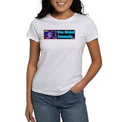 ONE GLOBAL COMMUNITY .com Women's T-Shirt