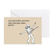 Party Like Rock Stars Greeting Cards (Pk of 10)