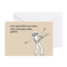 Party Like Rock Stars Greeting Card