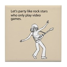 Party Like Rock Stars Tile Coaster