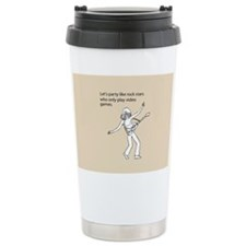 Party Like Rock Stars Stainless Steel Travel Mug