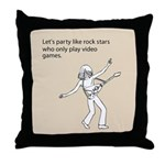 Party Like Rock Stars Throw Pillow