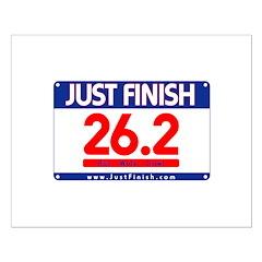26.2 - Just FINISH bib Posters