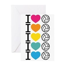 I Heart Volleyball Greeting Card