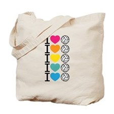 I Heart Volleyball Tote Bag