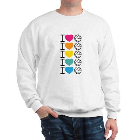 I Heart Volleyball Sweatshirt
